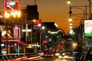 View_of_Hindley_Street_at_night
